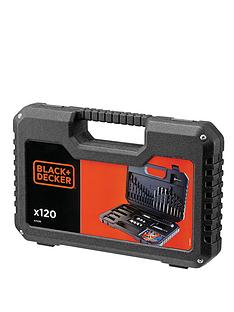 black-decker-a7220-xj-120-piece-drilling-and-screw-driving-set