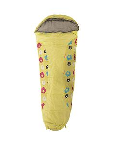 trespass-bunka-junior-printed-sleeping-bag-yellow