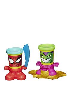 play-doh-marvel-can-heads-spiderman-and-goblin