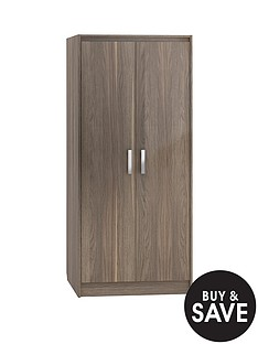 little-acorn-venezia-wardrobe-walnut