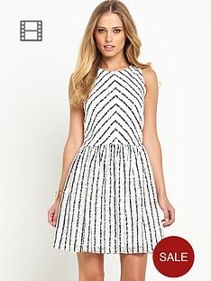 definitions-stripe-lace-dress