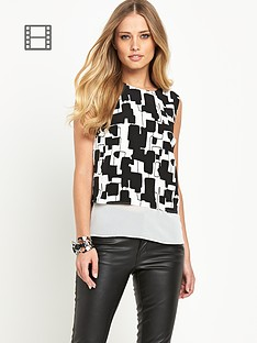 definitions-monchrome-double-layer-printed-top