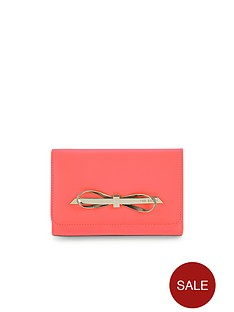 ted-baker-bow-leather-purse-orange