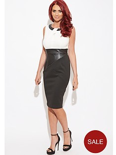 amy-childs-evangelina-pu-panel-midi-dress