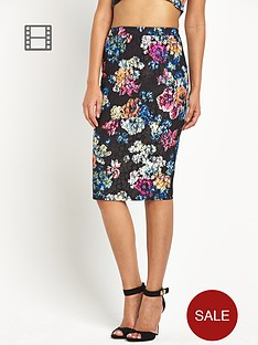lipsy-lace-floral-skirt