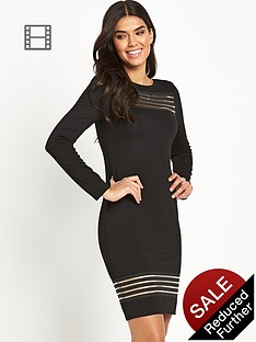 lipsy-long-sleeve-mesh-insert-bodycon-dress