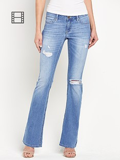 south-distressed-ripped-kickflare-jeans