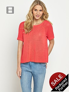 south-short-sleeved-tape-yarn-trapeze-jumper