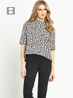 south-jacquard-leopard-print-top