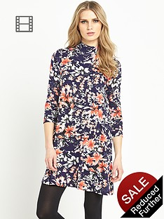 south-turtle-neck-swing-midi-dress