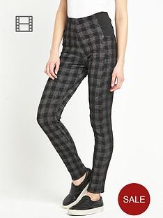 south-check-print-leggings