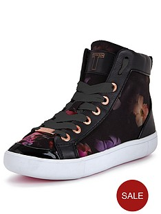 ted-baker-magdelaine-floral-printed-high-top-trainers