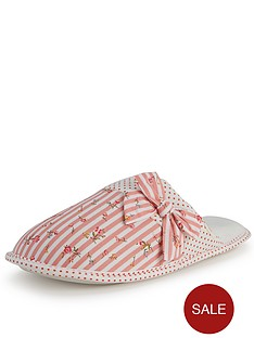 totes-isotoner-spot-and-stripe-lined-mule-slippers