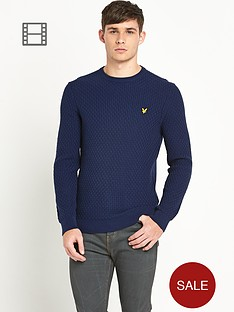 lyle-scott-mens-long-sleeve-crew-neck-basket-stitch-pullover