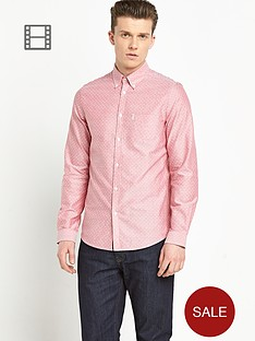 ben-sherman-mens-oxford-dot-print-long-sleeve-shirt