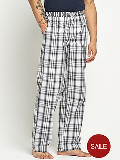 emporio-armani-mens-check-woven-pants