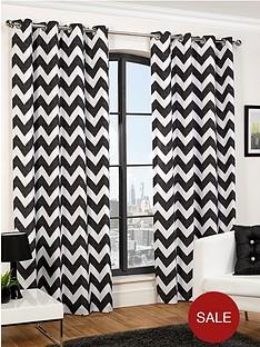 hamilton-mcbride-chevron-eyelet-curtains