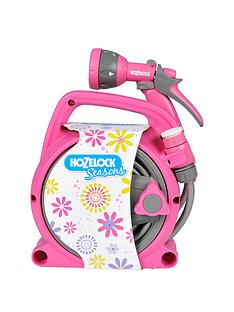 hozelock-seasons-10m-pico-reel-and-spray-gun-set-pink