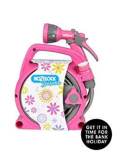 hozelock-seasons-10m-pico-reel-and-spray-gun-set-pink