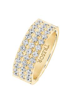 tresor-paris-gold-plated-white-crystal-3-row-8mm-ring