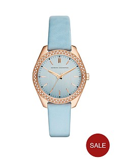 armani-exchange-blue-dial-and-blue-leather-strap-ladies-watch