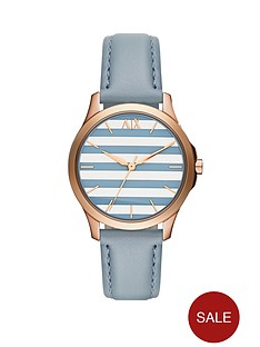 armani-exchange-silverblue-striped-dial-and-blue-leather-strap-ladies-watch