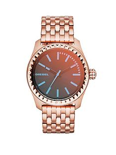 diesel-kray-kray-38-black-dial-rose-gold-tone-stainless-steel-bracelet-ladies-watch