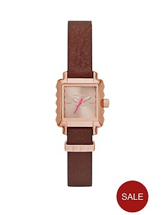 diesel-ursula-rose-gold-tone-dial-brown-leather-strap-ladies-watch