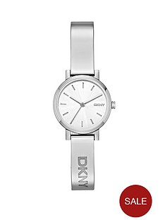 dkny-soho-stainless-steel-silver-tone-half-bangle-ladies-watch
