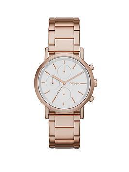dkny-soho-chronograph-rose-gold-tone-stainless-steel-bracelet-ladies-watch
