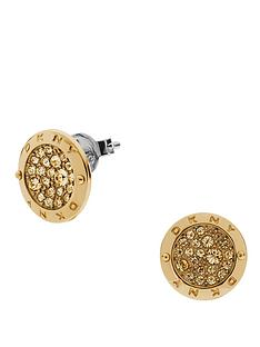 dkny-gold-tone-light-colorado-topaz-stud-earrings