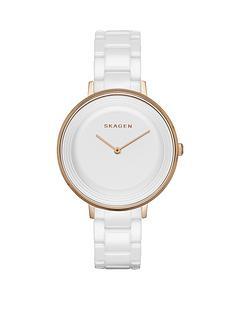 skagen-ditte-white-ceramic-bracelet-ladies-watch