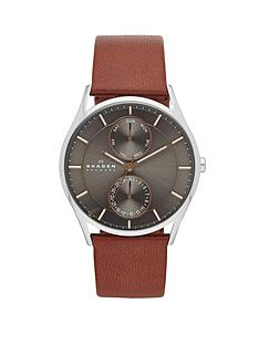 skagen-holst-brown-leather-strap-mens-watch