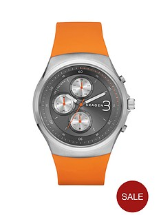 skagen-jannik-orange-silicone-strap-mens-watch