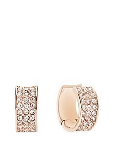 guess-rose-gold-plated-crystal-creole-earrings