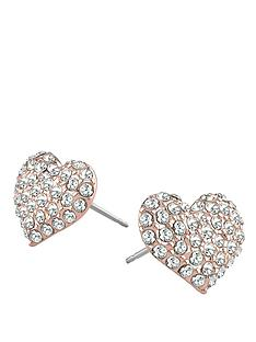 guess-rose-gold-plated-crystal-heart-earrings
