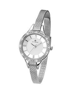 accurist-stone-set-chrome-tone-mesh-bracelet-ladies-watch