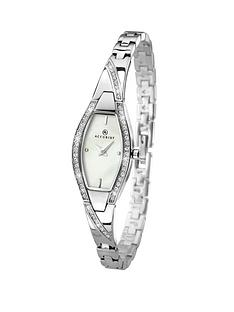 accurist-stone-set-chrome-tone-semi-bangle-ladies-watch