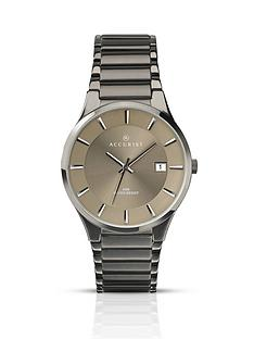 accurist-gunmetal-tone-stainless-steel-grey-dial-bracelet-mens-watch