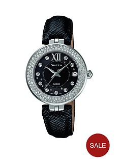 casio-sheen-crystal-dial-and-black-leather-strap-ladies-watch