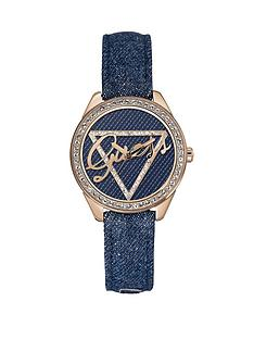 guess-crystal-detail-denim-logo-dial-and-strap-ladies-watch
