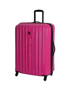 it-luggage-4-wheel-large-expander-abs-trolley-case-pink