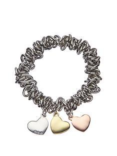 fiorelli-silver-heart-charm-scrunchy-bracelet