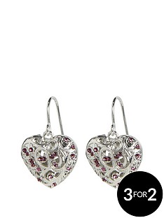 fiorelli-scrolled-cage-purple-drop-earrings