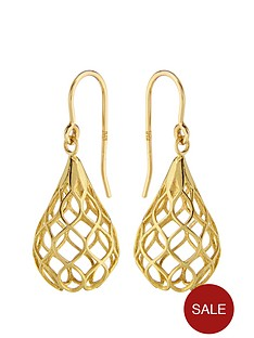 elements-9-carat-gold-cutout-tear-drop-earrings