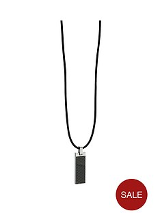 fred-bennett-black-stainless-steel-pendant