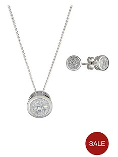 the-love-silver-collection-sterling-silver-white-cubic-zircona-pave-pendant-and-earrings-set