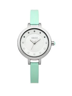 oasis-mint-strap-ladies-watch