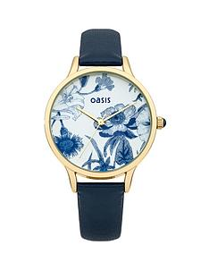 oasis-blue-strap-ladies-watch