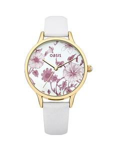 oasis-white-strap-ladies-watch
